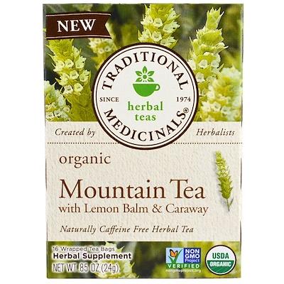 Traditional Medicinals 有機高山茶,含蜜蜂花和葛縷子,16 包茶袋,.85 盎司(24 克)
