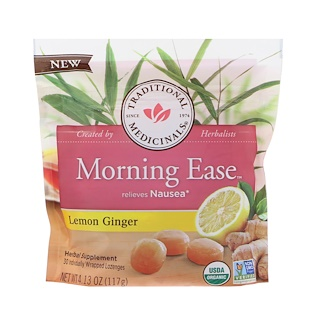 Traditional Medicinals, Organic, Morning Ease, Lemon Ginger, 30 Individually Wrapped Lozenges, 4.13 oz (117 g)