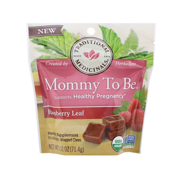 Traditional Medicinals, Organic, Mommy to Be, Raspberry Leaf, 14 Individually Wrapped Chews, 2.52 oz (71.4 g) (Discontinued Item)