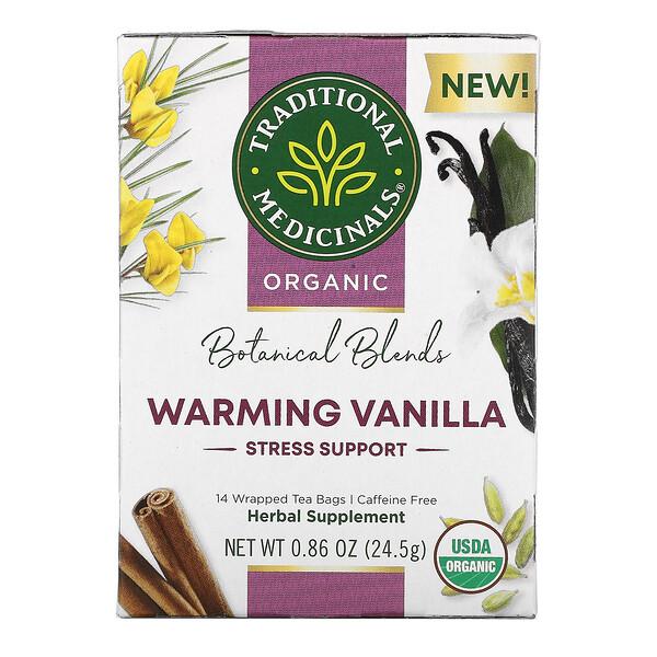 Organic Botanical Blends Tea, Caffeine Free, Warming Vanilla, 14 Wrapped Tea Bags, 0.86 oz (24.5 g)