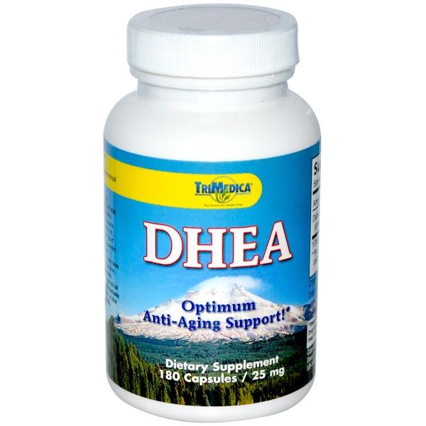 Trimedica, DHEA, 25 mg, 180 Capsules (Discontinued Item)