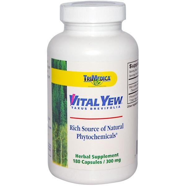 Trimedica, Vital Yew, 300 mg, 180 Capsules (Discontinued Item)
