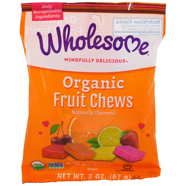 Wholesome Sweeteners, Inc., Organic Fruit Chews, 2 oz (57 g)