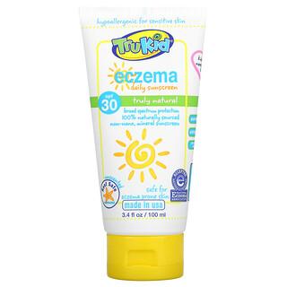 TruKid, Eczema Daily Sunscreen, SPF 30, Unscented, 3.4 fl oz (100 ml)