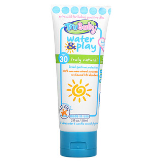 TruKid, Tru Baby, Water & Play Sunscreen, SPF 30, Unscented, 2 fl oz (58 ml)