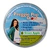 Three Lollies, Preggie Pop Drops, Green Apple, 21 Pieces