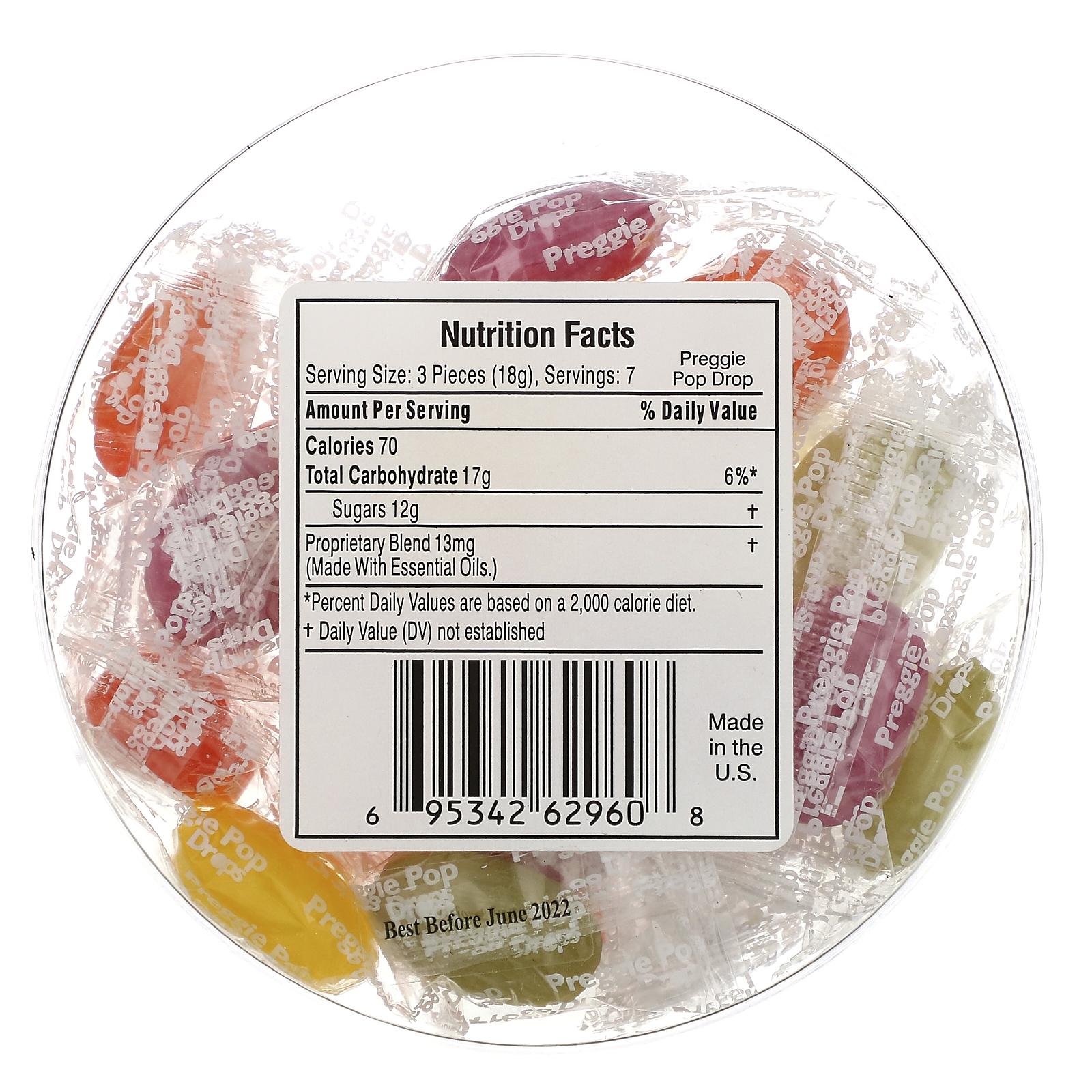 Three Lollies Preggie Pop Drops Sour Fruits 21 Pieces Iherb