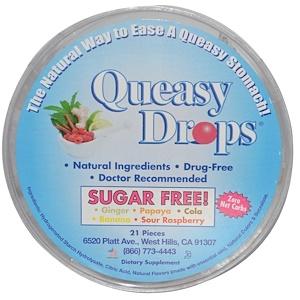 Три Лоллис, Queasy Drops, Sugar Free, 21 Pieces отзывы