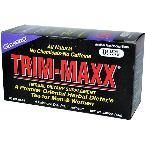 Trim-Maxx, A Premier Oriental Herbal Dieter's Tea, Ginseng, 30 Tea Bags, 2.56 oz (73 g) (Discontinued Item)