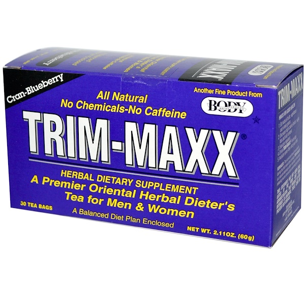 Trim-Maxx, A Premier Oriental Dieter's Tea for Men & Women, Cran-Blueberry, 30 Tea Bags, 2.11 oz (60 g) (Discontinued Item)