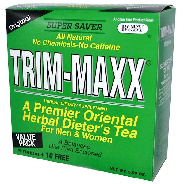 Trim-Maxx, A Premier Oriental Herbal Dieter's Tea For Men & Women, Original, 60 Tea Bags + 10 Free, 5.90 oz (Discontinued Item)