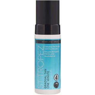St. Tropez, Gradual Tan, One Minute, Everyday Pre-Shower, Tanning Mousse, 4 fl oz (120 ml)