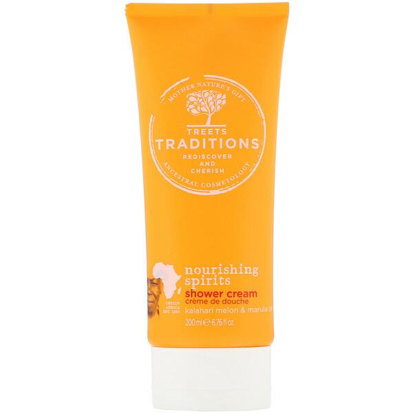 Treets, Nourishing Spirits, Shower Cream, Sweet Melon, 6.76 fl oz (200 ml) (Discontinued Item)