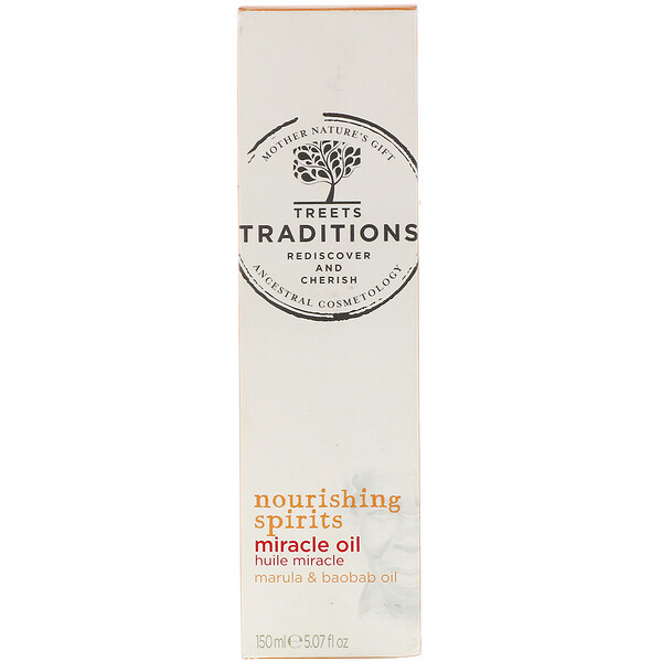Treets, Nourishing Spirits, Miracle Oil, Sweet Melon, 5.07 fl oz (150 ml)