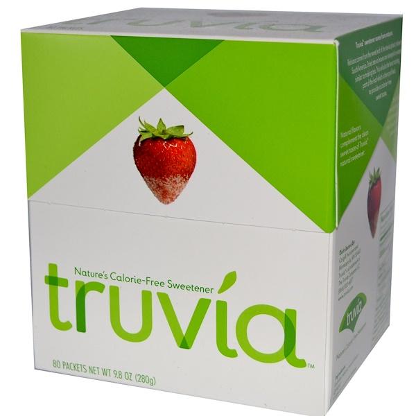 Truvia, Безкалорийный природный подсластитель, 80 пакетиков по 3,5 г