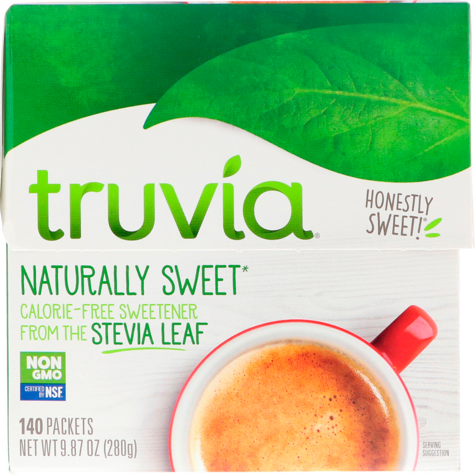 Truvia Naturally Sweet Calorie Free Sweetener 140 Packets 987 Oz