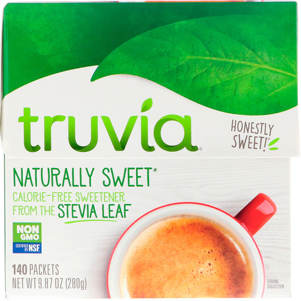 Truvia, Naturally Sweet Calorie Free Sweetener, 140 Packets, 9.87 oz (280 g) (Discontinued Item)