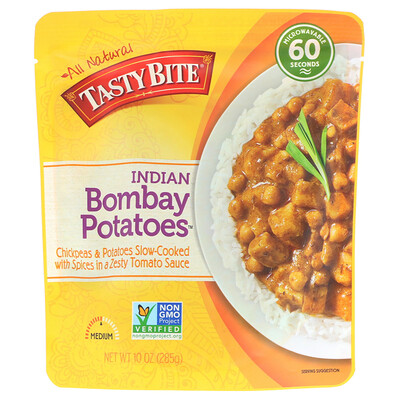 Tasty Bite Indian, Bombay Potatoes, Medium, 10 oz (285 g)