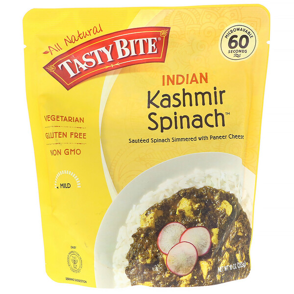 Tasty Bite, Indian, Kashmir Spinach, 10 oz (285 g) (Discontinued Item)