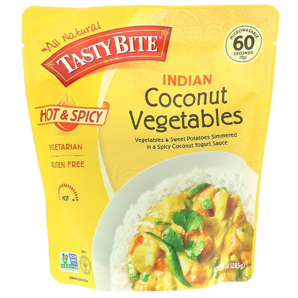 Tasty Bite, Indian, Coconut Vegetables, Hot and Spicy, 10 oz (285 g)