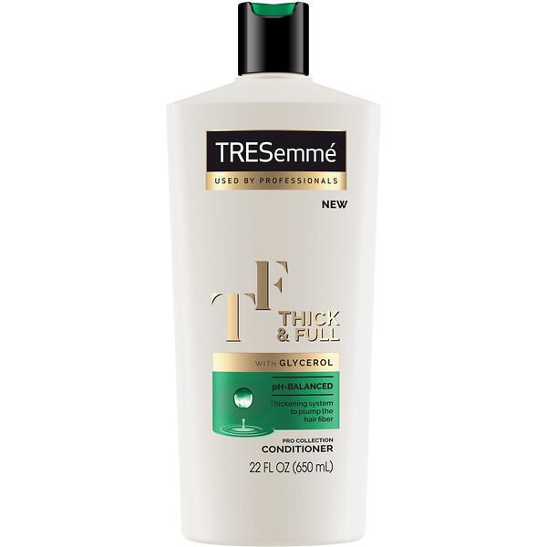 Tresemme, بلسم Thick & Full لشعر أكثر كثافة وحجماً، 22 أونصة سائلة (650 مل)