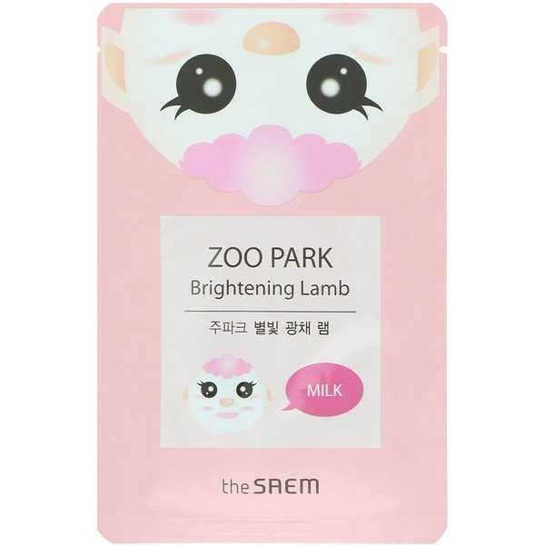 The Saem, Zoo Park, Brightening Lamb Mask, 1 Sheet, 0.84 fl oz (25 ml)