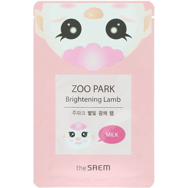 The Saem, Zoo Park, Brightening Lamb Mask, 1 Sheet, 0.84 fl oz (25 ml) (Discontinued Item)