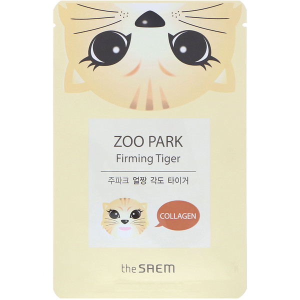 The Saem, Zoo Park, Firming Tiger Mask, 1 Sheet, 0.84 fl oz (25 ml) (Discontinued Item)