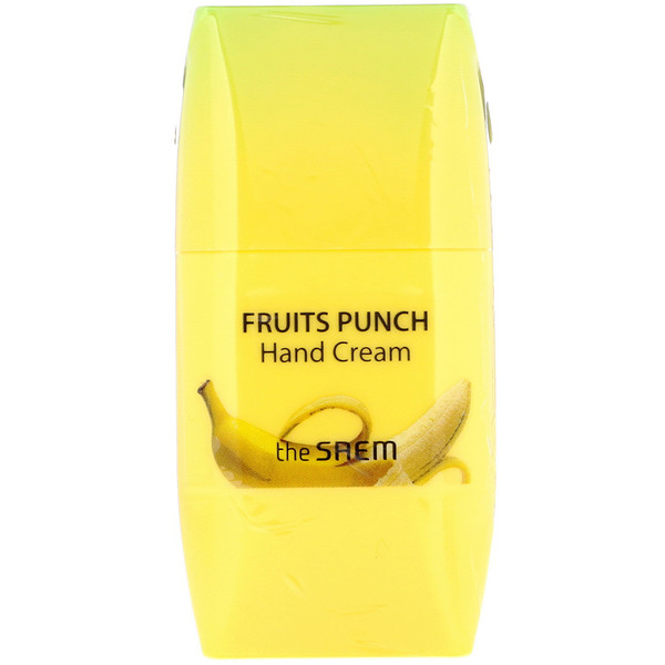 The Saem, Crema para manos Fruits Punch, Banana, 1,69 fl oz (50 ml) (Discontinued Item)
