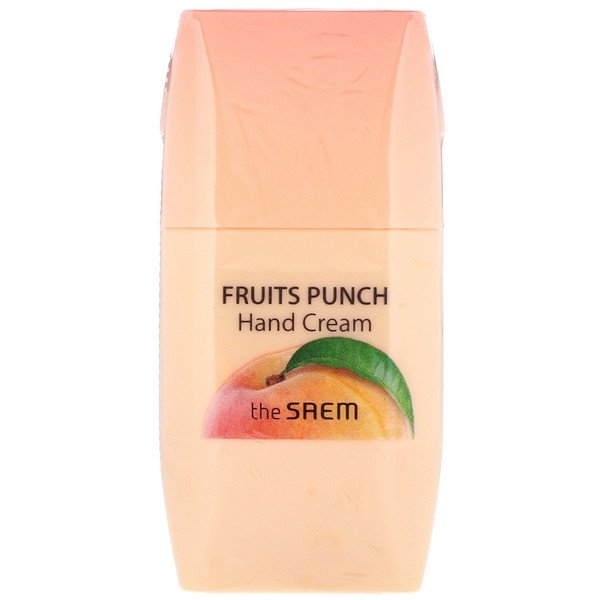 The Saem, Fruits Punch Hand Cream, Peach, 1.69 fl oz (50 ml) (Discontinued Item)