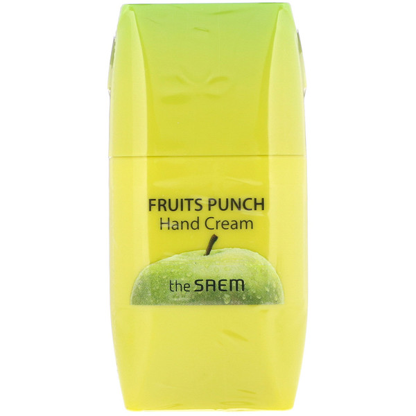 The Saem, Fruits Punch Hand Cream, Apple, 1.69 fl oz (50 ml) (Discontinued Item)