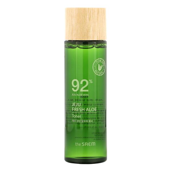 Jeju Fresh Aloe, 92% Aloe Vera Toner, 5.24 fl oz (155 ml)