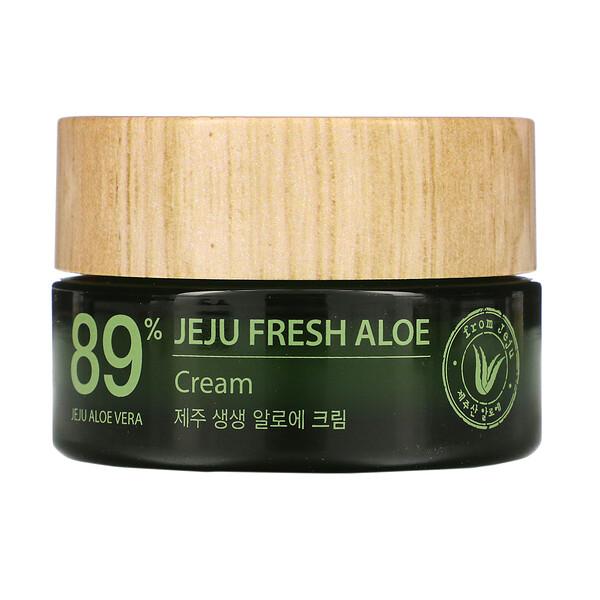 Jeju Fresh Aloe, 89% Aloe Vera Cream, 1.69 fl oz (50 ml)
