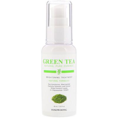 Купить Tosowoong Натуральная чистая эссенция зеленого чая, осветляющая процедура, 2, 02 жидкой унции (60 мл)