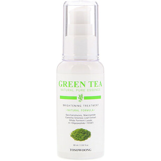 Tosowoong, Essence pure & naturelle au thé vert, Traitement éclaircissant, 60 ml (2,02 oz liq.)