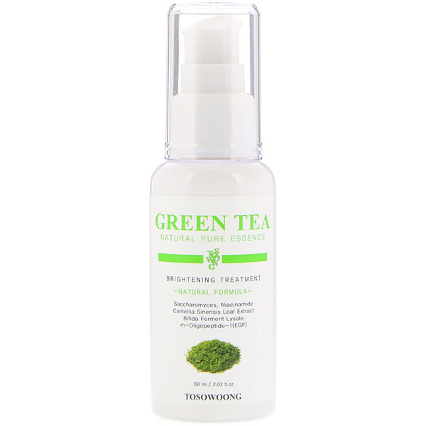 Green Tea Natural Pure Essence, Brightening Treatment, 2.02 fl oz (60 ml)