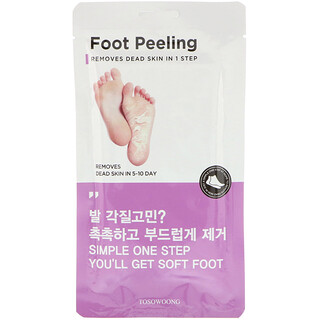 Tosowoong, Foot Peeling, Size Large, 2 Pieces, 20 g Each