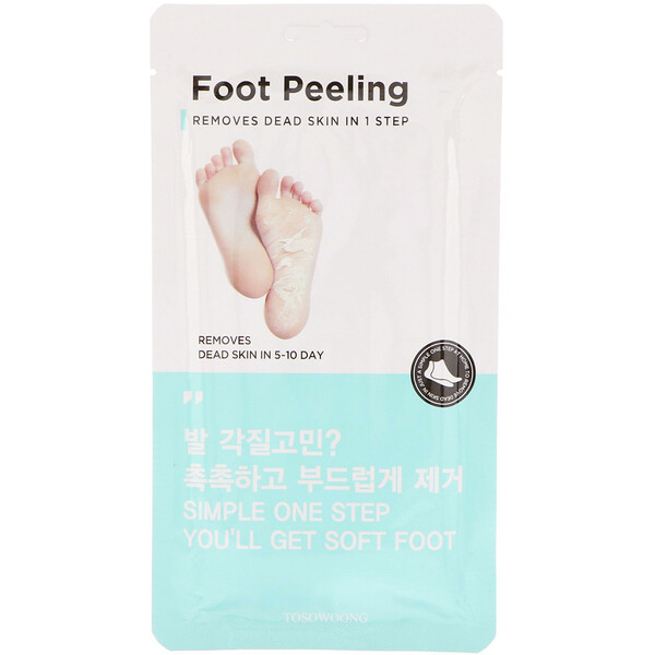 Foot Peeling, Size Regular, 2 Pieces, 20 g Each