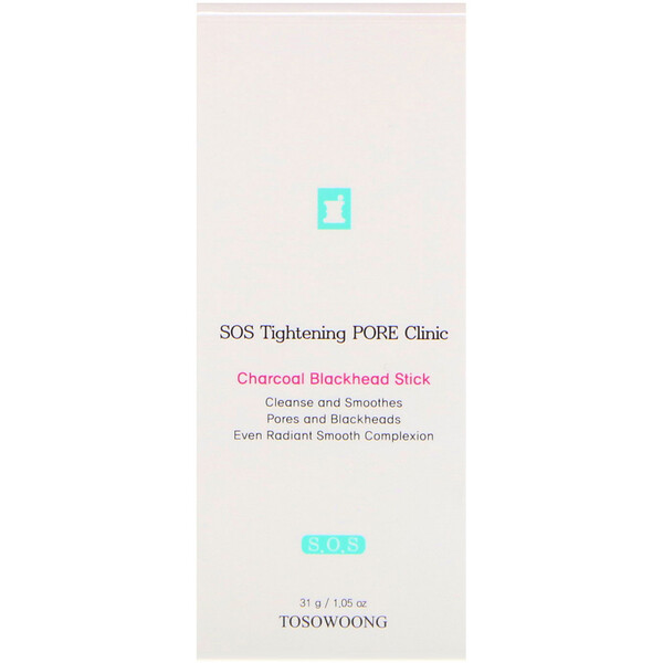 Tosowoong, SOS Tightening Pore Clinic Charcoal Blackhead Stick, 1.05 oz (31 g)