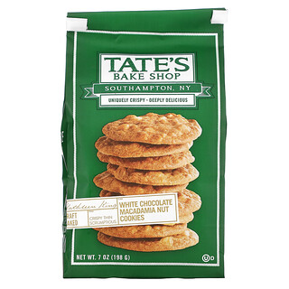Tate's Bake Shop, Cookies, Macadamia White Chocolate, 7 oz (198 g)