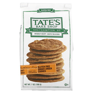 Tate's Bake Shop, Gluten Free Cookies, Ginger Zinger, 7 oz (198 g)