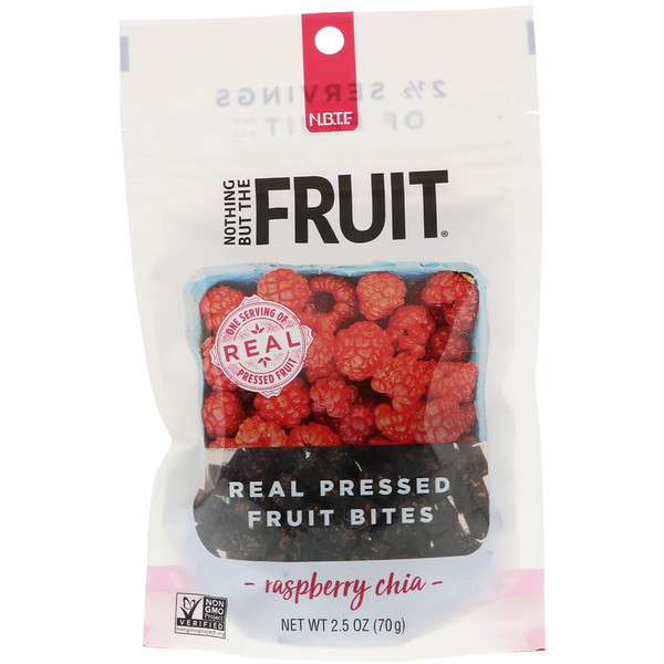 Nothing But The Fruit, Real Pressed Fruit Bites, Raspberry Chia, 2、5 oz (70 g)