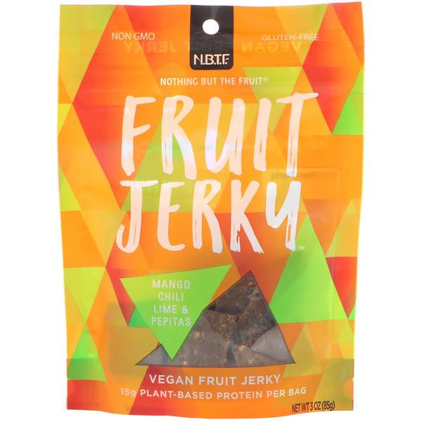 Nothing But The Fruit, Fruit Jerky, Mango, Chili, Lime & Pepitas, 3 oz (85 g)