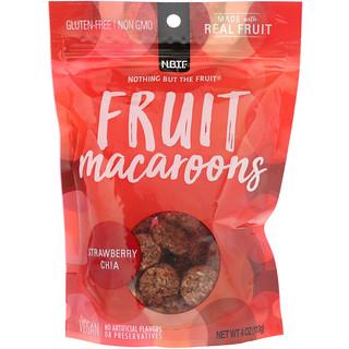 Nothing But The Fruit, Fruit Macaroons, Strawberry Chia, 4 oz (113 g)