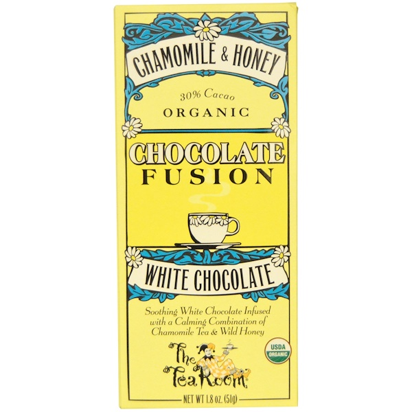 The Tea Room, Chocolate Fusion, White Chocolate, Chamomile & Honey, 1.8 oz (51 g) (Discontinued Item)
