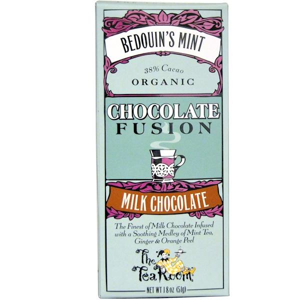 The Tea Room, Chocolate Fusion, Milk Chocolate, Bedouin's Mint, 1.8 oz (51 g) (Discontinued Item)