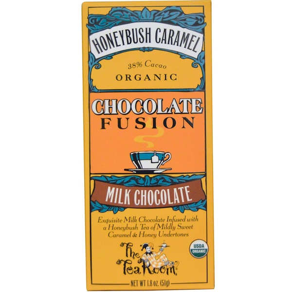 The Tea Room, Chocolate Fusion, Milk Chocolate, Honeybush Caramel, 1、8 oz (51 g)
