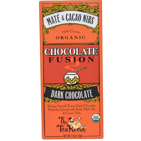 The Tea Room, Chocolate Fusion, Dark Chocolate, Mate & Cacao Nibs, 1.8 oz (51 g) (Discontinued Item)