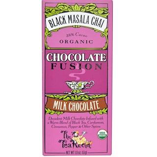 The Tea Room, Chocolate Fusion, Milk Chocolate, Black Masala Chai, 1.8 oz (51 g)