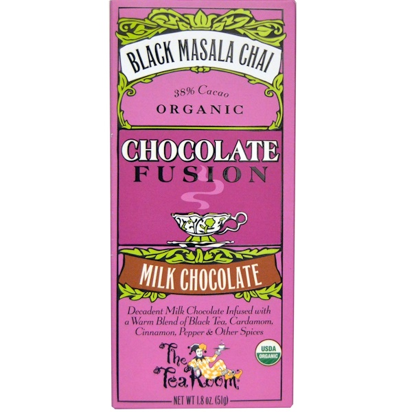 The Tea Room, Chocolate Fusion, Milk Chocolate, Black Masala Chai, 1.8 oz (51 g) (Discontinued Item)